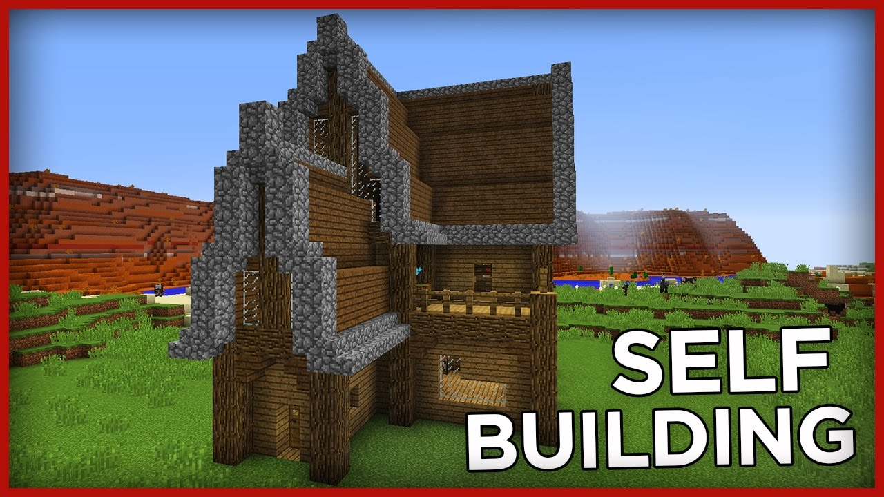 Self-building Command Block House in Minecraft