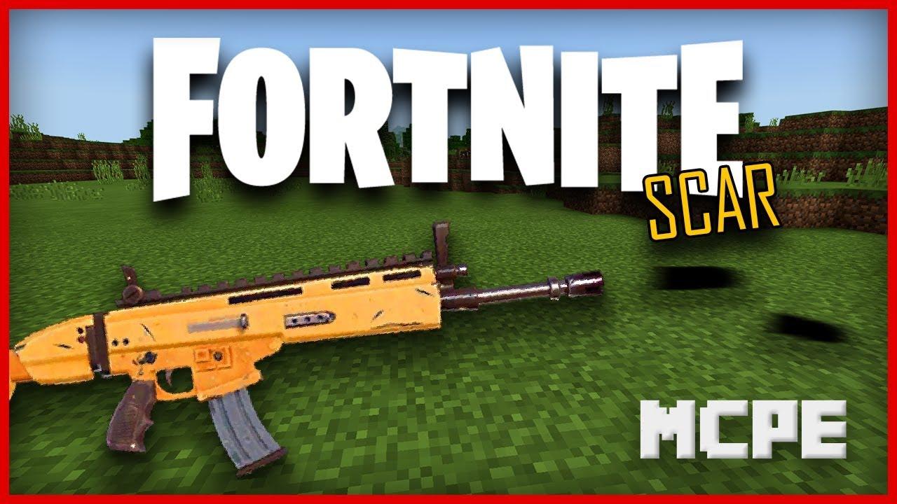 Fortnite Scar Gun in Minecraft
