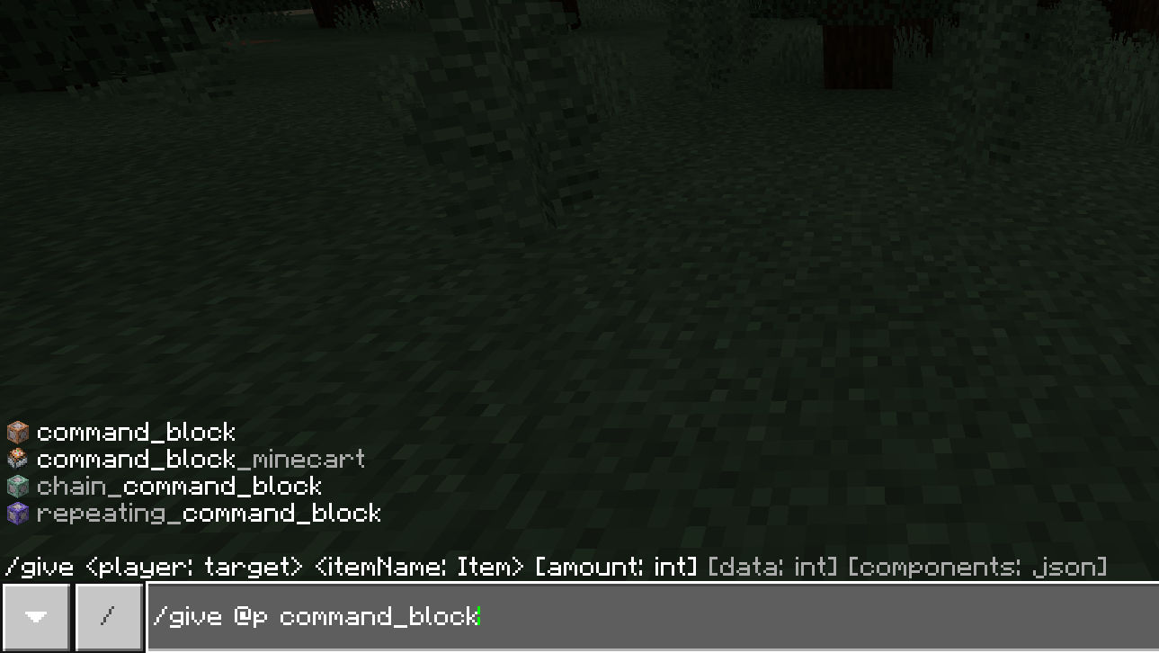 give command block