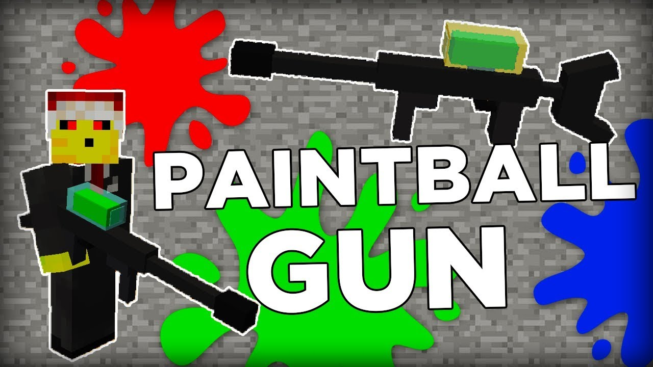Minecraft Paintball Gun