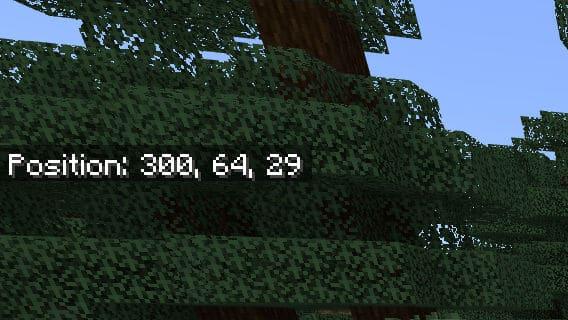 minecraft tp coordinates