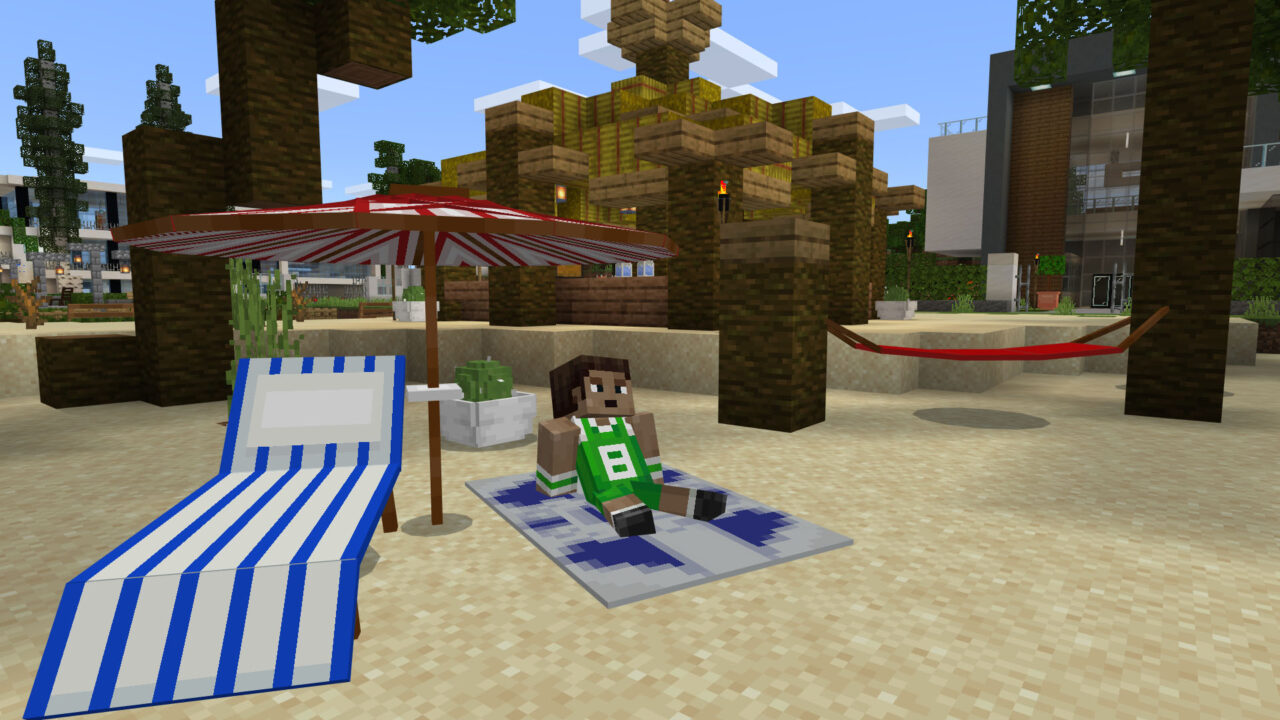 Minecraft Beach Furniture