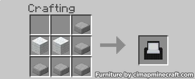 armchair minecraft furniture crafting