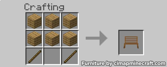 bench minecraft furniture crafting