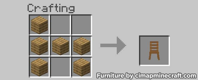 chair minecraft furniture crafting