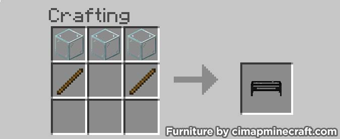 coffee table minecraft furniture crafting