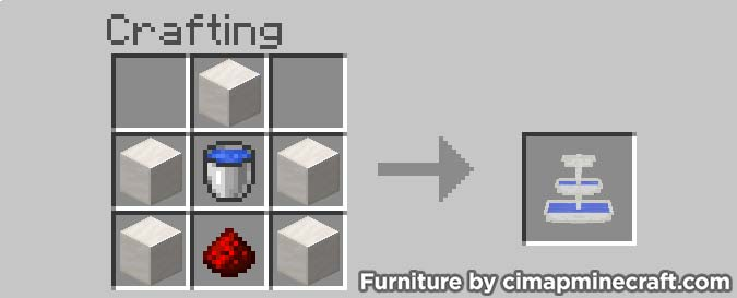fountain minecraft furniture crafting