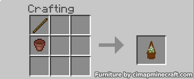 hanging pot minecraft furniture crafting