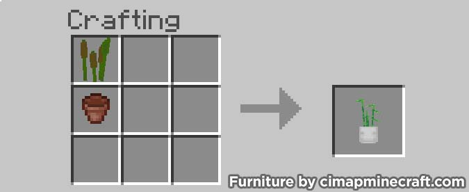 plant minecraft furniture crafting