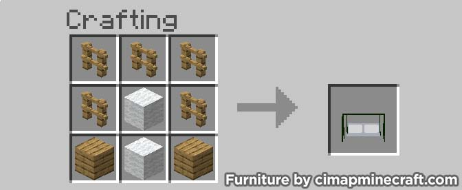 porch swing minecraft furniture crafting