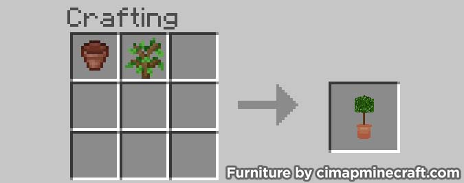 potted tree minecraft furniture crafting