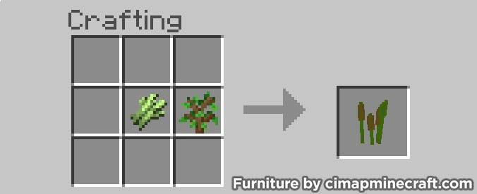 reeds minecraft furniture crafting