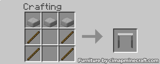 small table minecraft furniture crafting