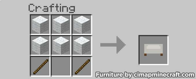 sofa minecraft furniture crafting