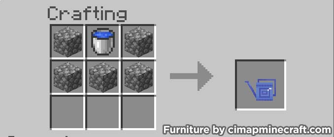 watering can minecraft furniture crafting