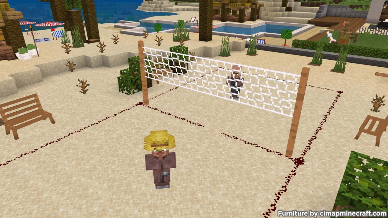 Beachvolley Net Minecraft Furniture