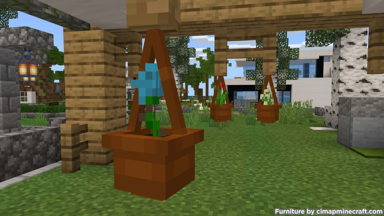 Hanging Flower Pot Minecraft Furniture