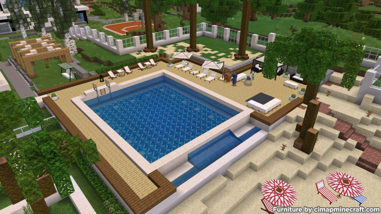 Minecraft Swimming Pool Deco