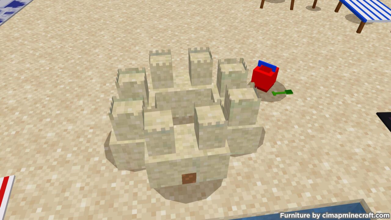 Sand Castle Minecraft Furniture