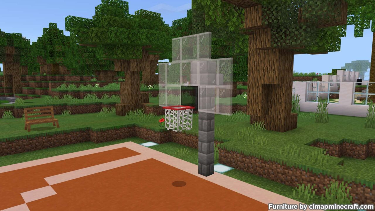 basketball hoop minecraft furniture