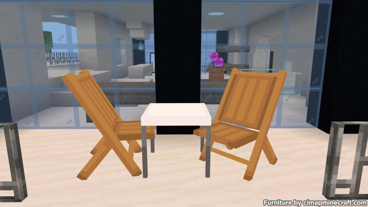foldable chairs minecraft furniture
