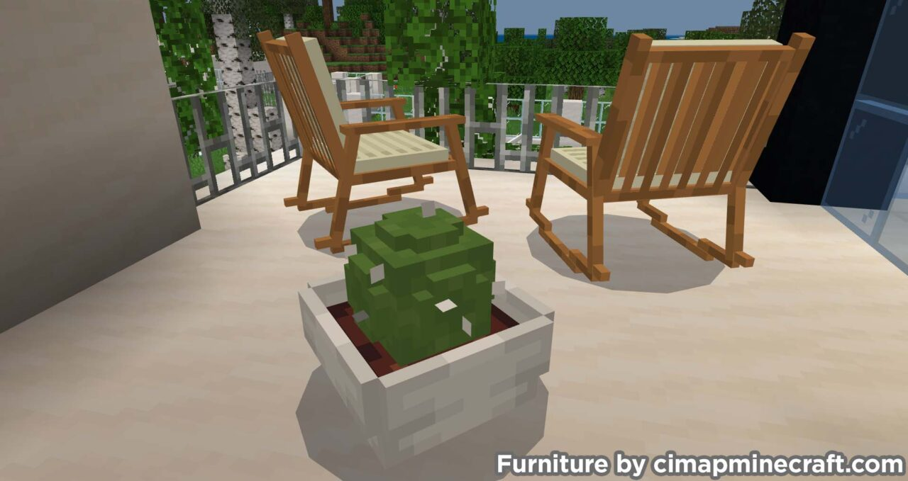 potted cactus furniture minecraft